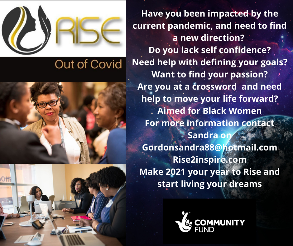 Rise out of covid programme flyer