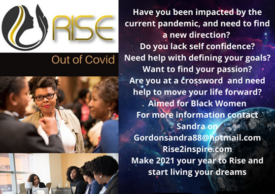 Rise out of Covid program flyer